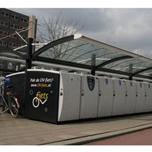 Sluiting elektromechanisch fietsenstalling